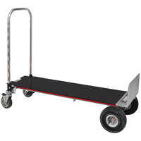 Magliner XLSB Gemini XL 2-in-1 500 lb. Convertible Hand Truck with 10 inch Balloon Cushion Wheels and U-Loop Handle