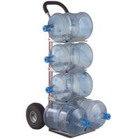 Magliner HBK128HM4 500 lb. 5-Bottle Water Hand Truck with 10 inch Pneumatic Wheels and U-Loop Handle