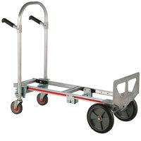 Magliner GMK16UAB Gemini Jr. 2-in-1 500 lb. Convertible Hand Truck with 10 inch Balloon Cushion Wheels and Dual Handles