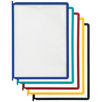 Durable 554800 Assorted Color Letter Sized Panels for Instaview Reference Systems - 5/Pack
