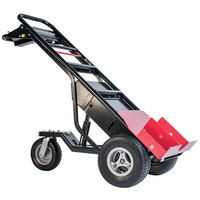 Magliner MHT75BC 1000 lb. Motorized Hand Truck with 13 inch Foam Filled Wheels and Tent Pole Pusher - 36V, 800W
