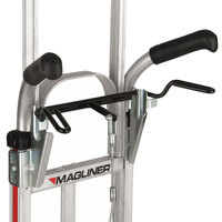 Magliner NPKC16G2C5HV 500 lb. Y-Cable Brake Hand Truck with 10 inch Microcellular Foam Wheels, Dual Handles, Vertical Strap, 60 inch Frame Extension, and Stairclimbers
