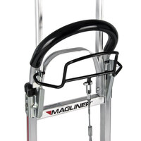 Magliner NPK122G2C5H 500 lb. Y-Cable Brake Hand Truck with 10 inch Microcellular Foam Wheels, Horizontal Loop Handle, 60 inch Frame Extension, and Stairclimbers