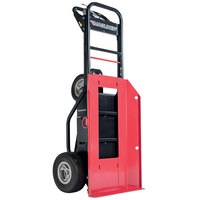 Magliner MHT75BB 1000 lb. Motorized Hand Truck with 13 inch Foam Filled Wheels and Plate for Cylinders / Inflatables - 36V, 800W