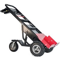 Magliner MHT75CC 1000 lb. Motorized Hand Truck with 13 inch Aggressive Tread Pneumatic Wheels and Tent Pole Pusher - 36V, 800W