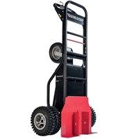 Magliner MHT75DC 1000 lb. Motorized Hand Truck with 13 inch Dual Aggressive Tread Pneumatic Wheels and Tent Pole Pusher - 36V, 800W