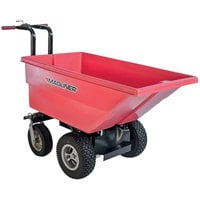 Magliner MHCSAA 0.22 Cubic Yard Motorized Hopper Cart with 13 inch Pneumatic Wheels and Dual Handle Bars (250 lb.)