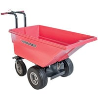 Magliner MHCSBA 0.22 Cubic Yard Motorized Hopper Cart with 13 inch Foam Filled Wheels and Dual Handle Bars (250 lb.)