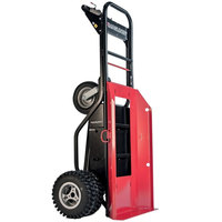 Magliner MHT75DB 1000 lb. Motorized Hand Truck with 13 inch Dual Aggressive Tread Pneumatic Wheels and Plate for Cylinders / Inflatables - 36V, 800W