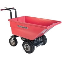 Magliner MHCSCA 0.22 Cubic Yard Motorized Hopper Cart with 13 inch Aggressive Tread Pneumatic Wheels and Dual Handle Bars (250 lb.)