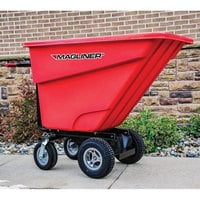 Magliner MHCSCC 1.0 Cubic Yard Motorized Hopper Cart with 13 inch Aggressive Tread Pneumatic Wheels and Dual Handle Bars (750 lb.)