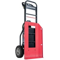 Magliner MHT75CB 1000 lb. Motorized Hand Truck with 13 inch Aggressive Tread Pneumatic Wheels and Plate for Cylinders / Inflatables - 36V, 800W