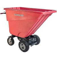Magliner MHCSCB 0.5 Cubic Yard Motorized Hopper Cart with 13 inch Aggressive Tread Pneumatic Wheels and Dual Handle Bars (400 lb.)