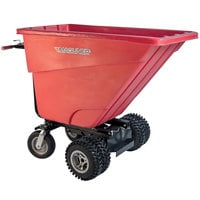 Magliner MHCSDB 0.5 Cubic Yard Motorized Hopper Cart with Dual 13 inch Aggressive Tread Pneumatic Wheels and Dual Handle Bars (400 lb.)