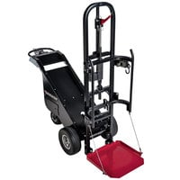 Magliner MDC90B-1 1100 lb. Motorized Dewar Cart with Foam Filled Tires, 2 Retractable Ratchet Straps, and Foldable Base Plate - 36V, 800W