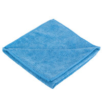 Knuckle Buster MFMP16BL 16 inch x 16 inch Blue Microfiber Cleaning Cloth - 12/Pack