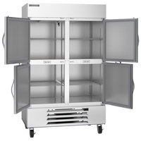 Beverage-Air HBF49HC-1-HS Horizon Series 52 inch Bottom Mounted Solid Half-Door Reach-In Freezer