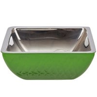 Bon Chef Diamond Collection Cold Wave 3 Qt. Lime Green Triple Wall Square Bowl