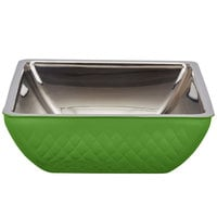 Bon Chef Diamond Collection Cold Wave 4 Qt. Lime Green Triple Wall Square Bowl