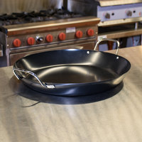 American Metalcraft GS1775 17 3/4 inch Wrought Iron Paella Pan