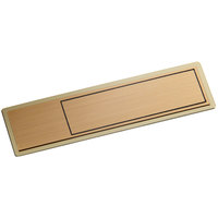Cawley 1 inch x 3 inch Customizable Gold Economy Metal Rectangle Nametag