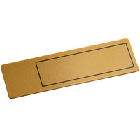 Cawley 1 inch x 3 inch Customizable Gold Plastic Rectangle Nametag