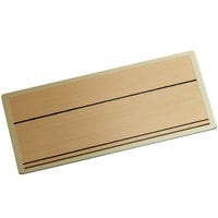 Cawley 1 1/2 inch x 3 inch Customizable Gold Economy Metal Rectangle Nametag
