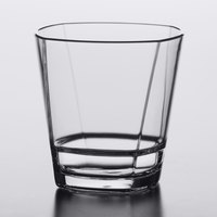 Libbey 92442 Infinium Torque 12 oz. Tritan Plastic Stackable Double Rocks / Old Fashioned Glass - 12/Case
