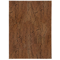 H. Risch, Inc. DRIFTWOOD-4V Driftwood 5 1/2 inch x 8 1/2 inch Customizable 4 View Menu Cover