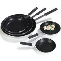 Carlisle 60907SERS Teflon Select® 7 inch Aluminum Non-Stick Fry Pan with Black Dura-Kool Handle