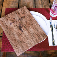 H. Risch, Inc. DRIFTWOOD-PKT-10V Driftwood 5 1/2 inch x 8 1/2 inch Customizable 10 View Menu Cover