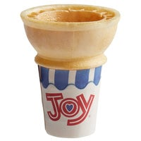 JOY #30J Flat Bottom Jacketed Cake Cone Dispenser Pack - 600/Case