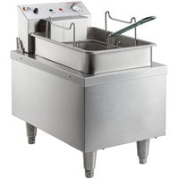 Cooking Performance Group F300 15 lb. Heavy-Duty Electric Countertop Fryer - 208/240V, 4200/5500W