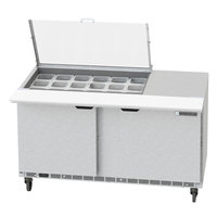 Beverage-Air SPED60HC-18M-2-CL Elite Series 60 inch 2 Drawer Mega Top Refrigerated Sandwich Prep Table with Clear Lid