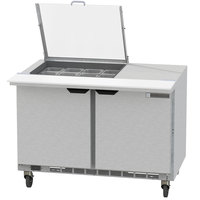 Beverage-Air SPED48HC-12M-4-CL Elite Series 48 inch 4 Drawer Mega Top Refrigerated Sandwich Prep Table with Clear Lid