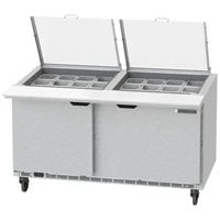 Beverage-Air SPED60HC-24M-4-CL Elite Series 60 inch 4 Drawer Mega Top Refrigerated Sandwich Prep Table with Clear Lid