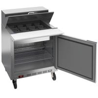 Beverage-Air SPE32HC-12M Elite 32 inch 1 Door Mega Top Refrigerated Sandwich Prep Table