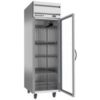 Beverage-Air HRS1HC-1G Horizon Series 26 inch S Finish Top Mounted Glass Door Reach-In Refrigerator