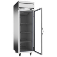 Beverage-Air HRP1HC-1G Horizon Series 26 inch P Finish Top Mounted Glass Door Reach-In Refrigerator