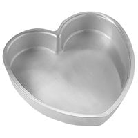 American Metalcraft HPP7 7 inch x 1 1/2 inch Aluminum Heart Shaped Cake Pan
