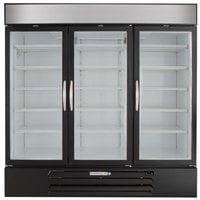 Beverage-Air MMF72HC-5-B MarketMax 75 inch Black Glass Door Merchandiser Freezer - 68.5 Cu. Ft.
