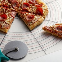 American Metalcraft MPNS 22 inch x 22 inch x 1/8 inch Flexible Polypropylene Pizza Slice Cutting Guide, 4/8 Slice