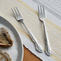 Choice Bethany 5 3/4 inch 18/0 Stainless Steel Oyster / Cocktail Fork   - 12/Case