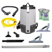 ProTeam 107613 ProVac FS6 6 Qt. Backpack Vacuum with 107532 Tool Kit - 120V