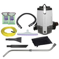 ProTeam 107427 ProVac FS6 6 Qt. Backpack Vacuum with 107421 Tool Kit - 120V