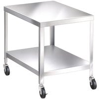 Lakeside 717 Stainless Steel Mobile Equipment Stand with Undershelf - 33 1/4 inch x 25 1/4 inch x 21 3/16 inch