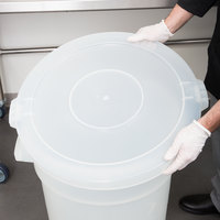 Continental 3201CL Huskee 32 Gallon Clear Round Ingredient Bin / Trash Can Lid