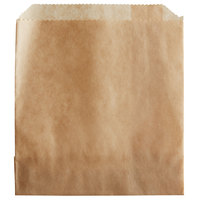 Carnival King 4 1/2 inch x 4 1/2 inch Medium Kraft French Fry Bag - 500/Pack