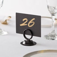 Choice 2 1/2 inch Black Menu / Card Holder with Weighted Base   - 12/Pack