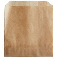 Carnival King 4 1/2 inch x 4 1/2 inch Medium Kraft French Fry Bag - 1000/Case